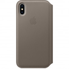 Apple Flip Cover Taupe pro iPhone X/XS (EU Blister)
