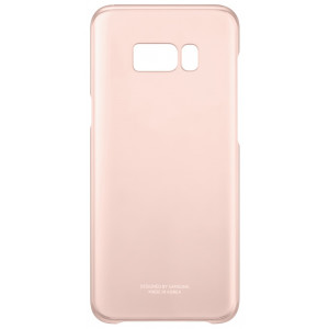 S8+ Clear Cover Pink