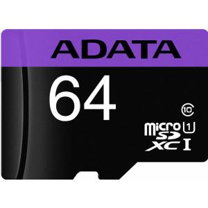 ADATA Premier microSDXC UHS-I Class10 64GB + adaptér (EU Blister)