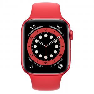 Apple Watch Series 6 se 44mm pouzdrem (PRODUCT)RED a červeným sportovním řemínkem