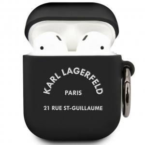 Karl Lagerfeld Rue St Guillaume Pouzdro pro Airpods 1/2 Black