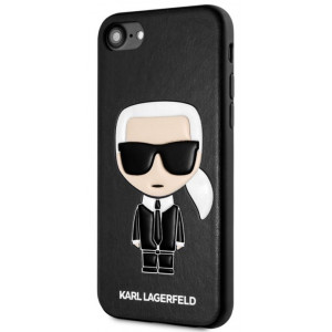 Karl Lagerfeld Full Body Iconic Kryt pro iPhone 7 / 8 / SE (2020) Black