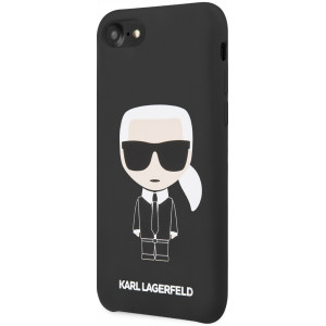 Karl Lagerfeld Full Body Silikonové Pouzdro pro iPhone 7 / 8 / SE (2020) Black