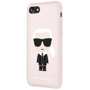 Karl Lagerfeld Full Body Silikonové Pouzdro pro iPhone 7 / 8 / SE (2020) Pink