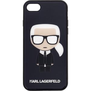 Karl Lagerfeld Iconic Full Body Glitter Pouzdro pro iPhone 7 / 8 / SE (2020) Black