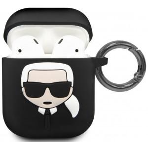 Karl Lagerfeld Silikonové Pouzdro pro Airpod 1/2 Black