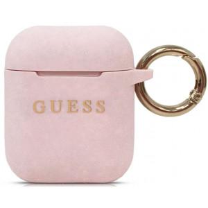 Guess Silikonové Pouzdro pro Airpods 1/2 Pink
