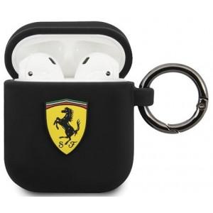 Ferrari Silikonové Pouzdro pro Airpods 1/2 Black