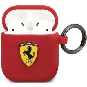 Ferrari Silikonové Pouzdro pro Airpods 1/2 Red