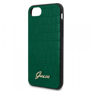 Guess Croco Pouzdro pro iPhone 7 / 8 / SE (2020) Green