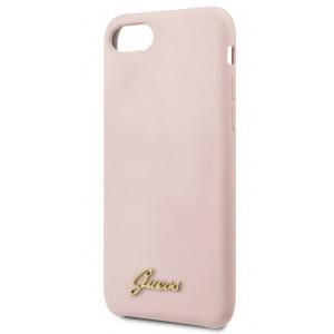 Guess Retro Silikonové Pouzdro pro iPhone 7 / 8 / SE (2020) Pink