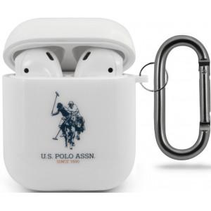 U.S. Polo Silikonové Pouzdro pro Airpods 1/2 White