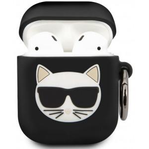 Karl Lagerfeld Choupette Pouzdro pro Airpod 1/2 Black