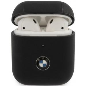 BMW Signature Kožené pouzdro pro AirPods 1/2 Black