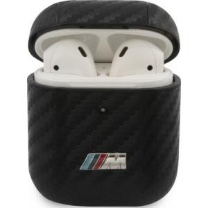 BMW M Carbon pouzdro pro AirPods 1 / 2 Black