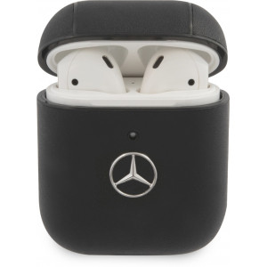 Mercedes Kožené Pouzdro pro AirPods 1/2 Black