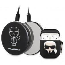 KLBPPBOA2K Karl Lagerfeld Bundle Iconic Pouzdro pro Airpods 1/2 + Power Bank