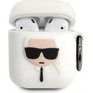 Karl Lagerfeld Karl Head Pouzdro pro Airpods 1/2 White