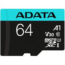 ADATA Premier Pro microSDXC UHS-I U3 Class 10 (V30S) 64GB + adaptér (EU Blister)