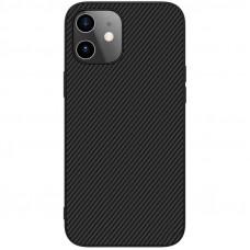 Nillkin Synthetic Fiber Ochranný Zadní Kryt pro iPhone 12 mini Black
