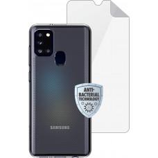 Matrix SE  Pouzdro pro Samsung Galaxy A21s Transparent + ochranná fólie