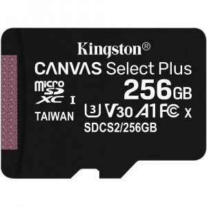 Kingston Canvas Select Plus microSDXC UHS-I Class 10 card 256GB (EU Blister)