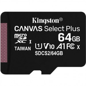 Kingston Canvas Select Plus microSDXC UHS-I Class 10 card 64GB (EU Blister)