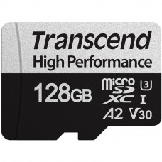 Transcend ® 330S microSDXC™ Card 128GB V30 UHS-I U3 A2 + Adapter (EU Blister)