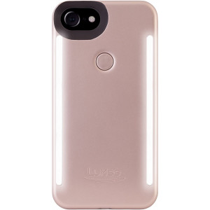 Lumee Duo Light pouzdro pro iPhone 7 / 8 / SE (2020) Rose Matte