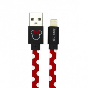 Disney Minnie Lightning Datový Kabel Dots Red (EU Blister)
