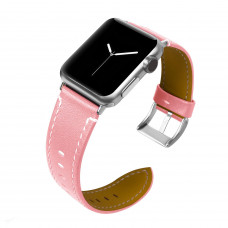 Tactical 033 Color Kožený Řemínek pro Apple Watch 38-40mm Pink