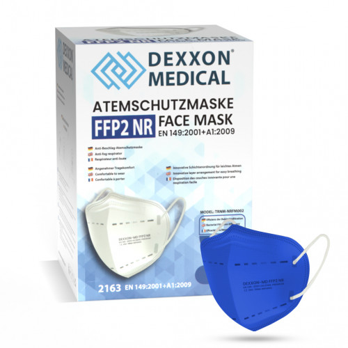 DEXXON MEDICAL Respirátor FFP2 NR modrá 50ks/bal