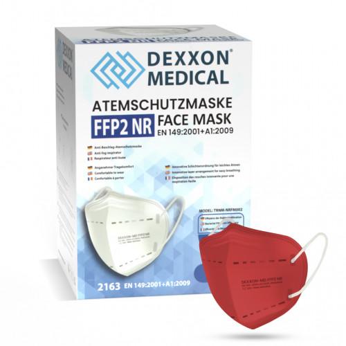 DEXXON MEDICAL Respirátor FFP2 NR červená 50ks/bal