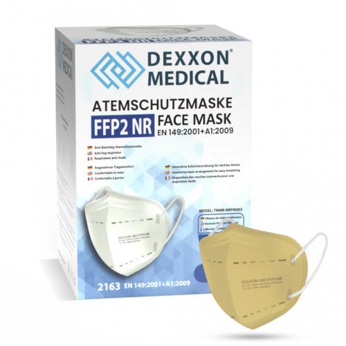 DEXXON MEDICAL Respirátor FFP2 NR pískový 10ks/bal