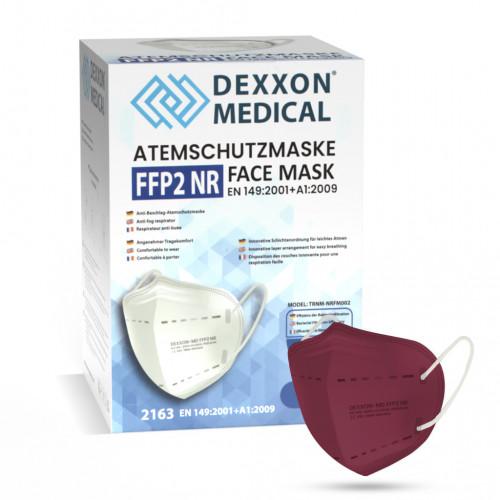DEXXON MEDICAL Respirátor FFP2 NR vínový 10ks/bal