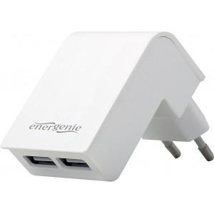 ENERGENIE EG-U2C2A-02-W Energenie univerzální USB nabíječka 2.1A, bílá