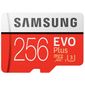 Samsung EVO Plus microSDXC 256GB V30 UHS-I U3 + Adapter (EU Blister)