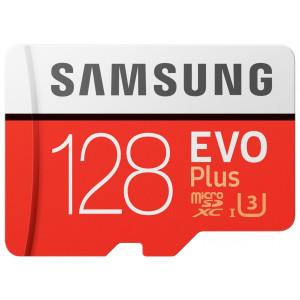 Samsung EVO Plus microSDXC 128GB V30 UHS-I U3 + Adapter (EU Blister)