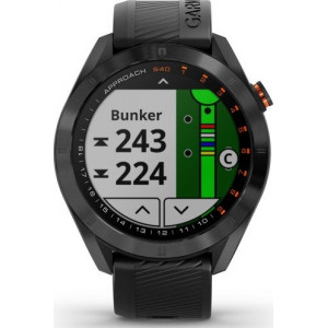 Garmin Approach S40 Black Stainless Steel with Black Band