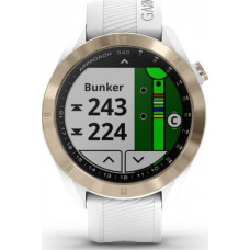Garmin Approach S40 Light Gold PVD Coated with White Band (Eco Box)