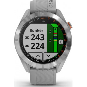 Garmin Approach S40 Stainless Steel with Powder Grey Band (Eco Box)