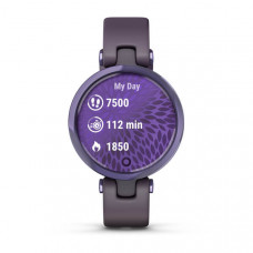 Garmin Lily Sport Midnight Orchid Bezel with Deep Orchid Case and Silicone Band (Eco Box)