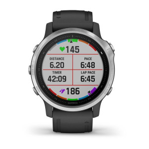 Garmin fēnix6S Silver with Black Band (Eco Box)