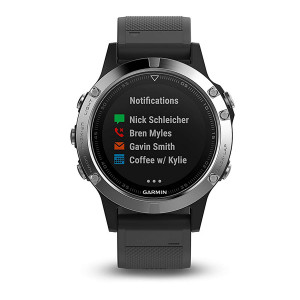 Garmin fēnix5 Silver with Black Band (Eco Box)