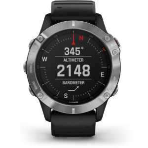 Garmin fēnix6 Glass Silver/Black Band (eco box)