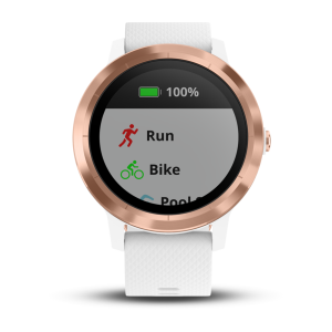 Garmin vívoactive 3 White with Rose Gold Hardware (Eco Box)