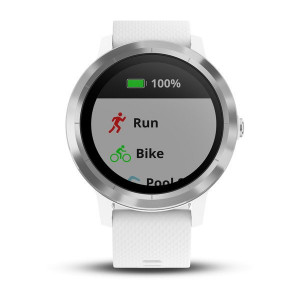 Garmin vívoactive 3 White with Silver Hardware