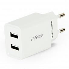 Energenie 2-portová univerzální USB nabíječka, 2,1A