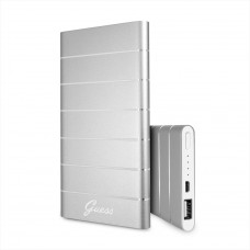 Guess Stripes Alluminium Power Bank 5000mAh Silver