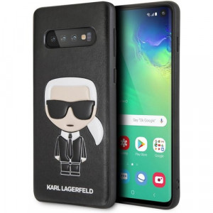 Karl Lagerfeld Ikonik Full Body PC/TPU Pouzdro pro Galaxy S10 Black